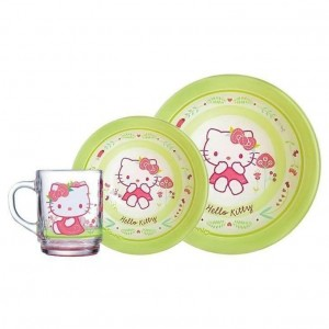 Набор посуды Luminarc HELLO KITTY nordic flower J1525 /3 пр.