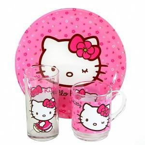 Набор Luminarc HELLO KITTY sweet pink /X3 предмета H5483