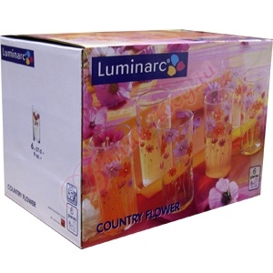 Набор стаканов Luminarc Amsterdam Country Flower 6шт G1958
